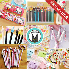 Cute Kawaii Pencil Pens Stationery Card Hello Kitty Sticker Gift Grab bag lot US