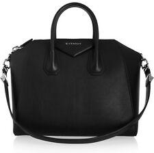 Givenchy Medium Antigona Textured Leather Black Tote Bag