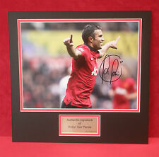 Robin Van Persie RVP 16x12 inch photo signed autograph mounted AFTAL
