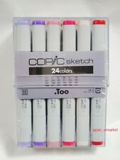 TOO Copic Sketch Marker Pen 24 colors set From Japan SPEED POST in Stock