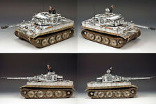 KING & COUNTRY WW2 GERMAN ARMY WS220 WINTER TIGER I TANK SET MIB