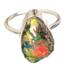 Ethiopian Opal 925 Sterling Silver Ring Size 7.75 Ana Co Jewelry R834651F