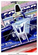 A3  ART PRINT - RALF SCHUMACHER - WILLIAMS FW23 - SAN MARINO 2001