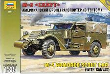 Zveda M-3 Armored Scout Car with Canvas in 1/35 3581 ST