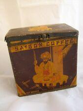 Old vintage Saigon COFFEE tin box antique