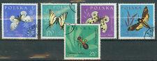Polen Briefmarken 1961 Insekten Mi.Nr.1283-1287