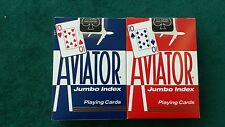 1 Brand New Blue or Red Deck Aviator Poker Regular Index Playing Cards Bicycle