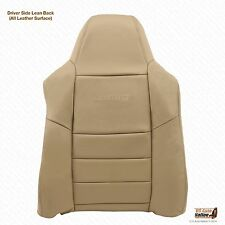 2002 to 2007 F-250 F350 Lariat Diesel Gas Driver Top Lean Back Leather Seat Tan