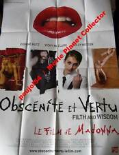 FILTH AND WISDOM/OBSCENITE ET VERTU  Madonna AFFICHE 120x160/47x63 FRENCH POSTER