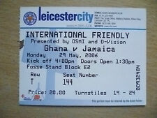 Tickets/ Stub 2006 International Friendly Match - GHANA v JAMAICA, 29 March