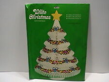 "NEW Vintage Christmas Tree Table Centerpiece Decoration White 13"" Tissue Paper"