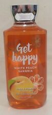 1 Get Happy White Peach Sangria Shower Gel Bath & Body Works 10 Oz