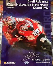 MARCO MELANDRI 33 SIGNED MALAYSIAN MOTOGP POSTER FROM 2009