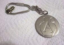 """Vtg METAL Keychain  INITIAL  Letter  """" A """"  JUG  Silver Tone"""