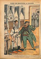 Caricature Anti Maçonnique Anticléricalisme Medecins Malades 1913 ILLUSTRATION