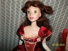 """Belle17"""" Porcelain Doll/ Preowned. Beauty and the Beast Belle Beautiful Disney"""