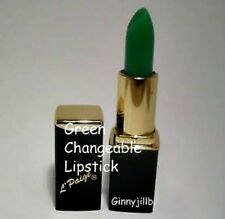 L'PAIGE LIPSTICK Green CHANGEABLE All Day Long, Coral, Kissable lip Stain, mood