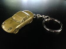 Mazda MX5 Hard Top Brass Effect 3D split-ring keyring FULL CAR ref124