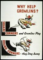 World War Two Gremlins Square Corners Health and Safety  Poster A3/A2 Print