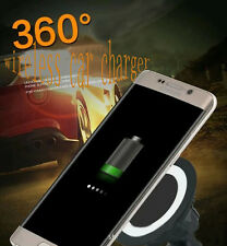Android fast Wireless Charger 360° Vehicle Mount Car Holder Charging Pad