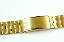 Omega Vintage Gold Plated Man's Watch Bracelet W/ Clasp EXCELLENT