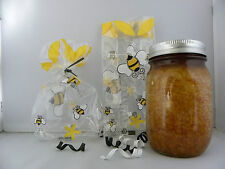 50 CELLO PARTY BAGS A LITTLE TASTE OF HONEY- BEES 3.5x2x7.5