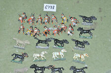 25mm napoleonic french chevaux legers 14 (6738) metal painted