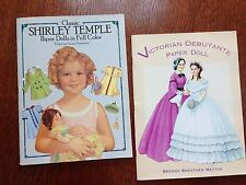 Victorian Debutante Paper Doll & Shirley Temple Paper Doll Books
