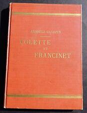 Arnould GALOPIN. Colette et Francinet. Reliure éditeur des n°1 à 50. 1927