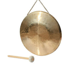 "13.7"" low pitch copper gong with Mallet Chinese traditional Musical instrument"