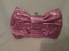 Kitson Pink Sparkle Bow Shoulder Bag NWT