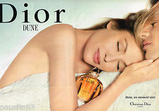 PUBLICITE ADVERTISING 055  1994  DIOR  parfum DUNE  ( 2 pages)
