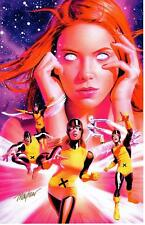 X-MEN ORIGINS JEAN GREY SIGNATURE EDITION ART PRINT Signed By MIKE MAYHEW