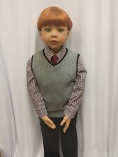 """NWT Exclusive Masterpiece Dolls Allison Green Eyes Re-dressed As A Boy 44"""" Tall"""