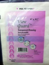 "50 DYNAREX VIEW GUARD 4""x4.75"" TRANSPARENT ADHESIVE DRESSING IV SITE COVER 3643"