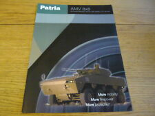PATRIA ARMOURED MODULAR VEHICLE MILITARY 8 x 8 TRUCK LORRY BROCHURE jm