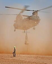 """RAF Royal Air Force 18 Squadron Chinook Helicopter Desert Reprint Photo 10x8"""""""