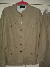*CASUAL & CO* 2-PCE JACKET/TROUSERS SET-LIGHT KHAKI-LARGE (16/18) TALL-NEW.