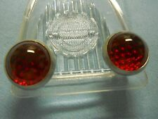 Harley Davidson  License Plate Reflectors (Fasteners)  Glass and Aluminum