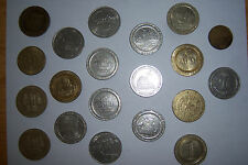 20 Assorted Collectible Casino 1 DOLLAR GAMING SLOT TOKENS Americana History