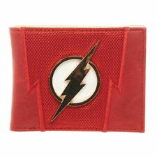 Official DC Comics The Flash Premium Suit Up Bi-Fold Wallet with Metal Logo
