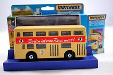 Matchbox SUPERKINGS K-15 LONDON BUS BERLIN ist eine Reise wert German Issue MIB