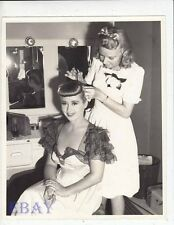 Joan Blondell gets hair done VINTAGE Photo Three Girls About Town candid on set
