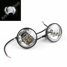 "2x 4-1/2"" 4.5"" LED Auxiliary Daymaker Passing Nebelleuchte Motorrad Für Harley"