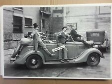 "12 By 18"" Black & White PICTURE 1935 Ford Convertible sedan w/ Marx Brothers"