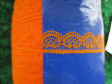 10 yards of Orange lace embroidery lace unilateral 2.5 cm