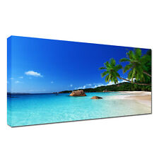 Large beach,sea, sky,water landscape A1  20x30 inch Canvas Wall  Picture
