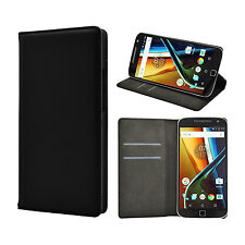 iDefend Motorola Moto G4 Play PU Leather Magentic Wallet Case Cover + Protector