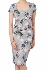 BNWT Phase Eight EDEN Grey/Pink Floral Stretch Jersey Dress Size 16