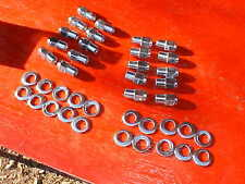20 cragar uni-lug mag wheel 3/4 shank lug nuts & off set washers,1/2 x20 rat rod